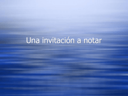 Una invitación a notar - Misd-4th