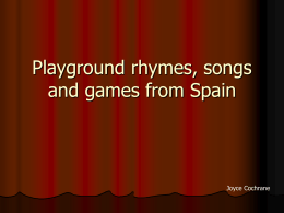 Playground rhymes, songs and games from France