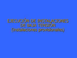Instalaciones provisionales de obra