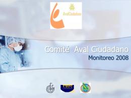 Aval Ciudadano - Reporte de Monitoreo 2009