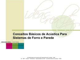 Ceiling And Wall Acoustical Basics Slides - 2005