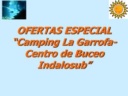 OFERTAS DE BUCEO EN EL CAMPING LA GARROFA
