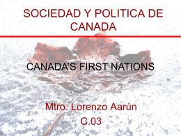SOCIEDAD Y POLITICA DE CANADA C.03