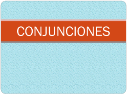 8-CONJUNCIONES - Cancion