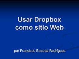 Usar Dropbox como sitio Web