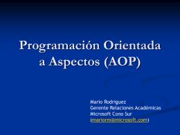 Programación Orientada a Aspectos (AOP)