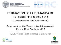 PresentacionTabacoImpuesto - Instituto Conmemorativo Gorgas