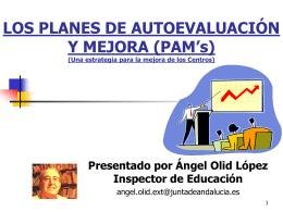 LOS PLANES DE AUTOEVALUACIÓN Y MEJORA