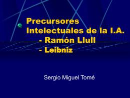 PRECURSORES INTELECTUALES DE LA IA