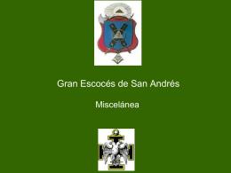 29° Grado – Gran Escoces de San Andres