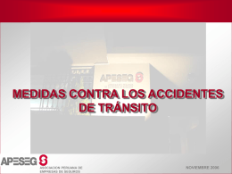 Medidas contra Accidentes de Tránsito