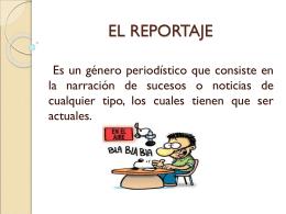 EL REPORTAJE - procesando periodistas