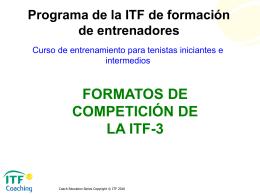Formatos de Competicioón de la ITF