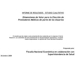Informe Cualitativo - Superintendencia de Salud