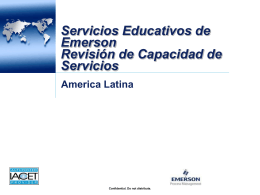 Emerson Educational Services*Capabilities Overview Presentation