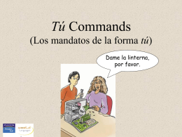 Tú commands