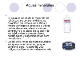 Aguas y refrescos - Escuela de hostelería de Huesca