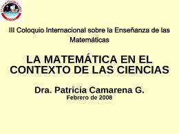 COMUNIDAD DE MATEMÁTICAS DE LA Corporación Universitaria