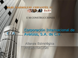 Corporación Internacional de Avalúos, S.A. de CV.