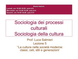 lezione 5 2010 - Università di Roma Sapienza: Facoltà di