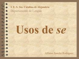 """Usos de """"se"""". Versión provisional"""