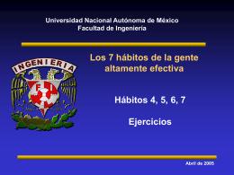 Pensar ganar-ganar - Facultad de Ingeniería, UNAM. Desarrollo de
