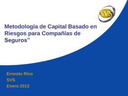 Ernesto Ríos, SVS - Superintendencia de Valores y Seguros