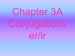 er/ir verb conjugating