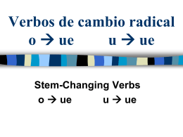 Stem-Changing Verbs O->UE, U->UE