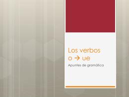 Los verbos o ue
