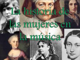 La historia de la música en la mujer