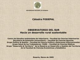 Presentación de PowerPoint - Universidad Nacional de Rosario