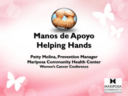 Manos de Apoyo Helping Hands Patty Molina, Prevention Manager