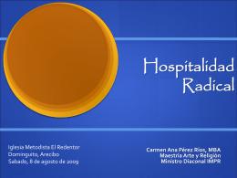 Hospitalidad Extravagante - Iglesia Metodista de Puerto Rico El