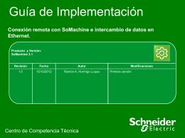 Guia de Implementacion- SoMachinev3.1 Conexion Remota