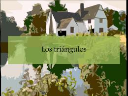 Los triángulos: un mundo que nos rodea