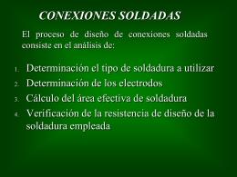 13.- Conexiones soldadas