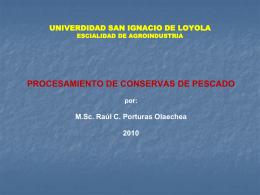universidad nacional agraria la molina facultad de pesqueria