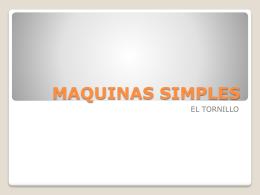 EL TORNILLO - MAQUINASSIMPLES13