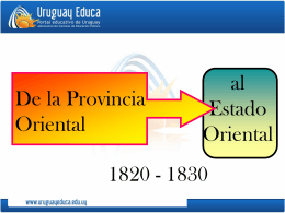 Proceso final de la independencia 1820-1830