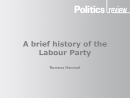 A brief history of the Labour Party