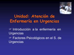Introduccin a la Enfermeria de urgencia