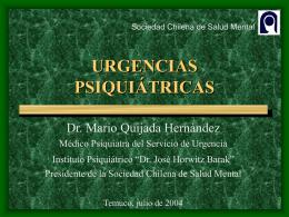 URGENCIAS PSIQUIÁTRICAS - Sociedad Chilena de Salud Mental