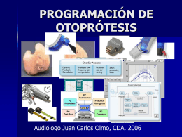 PROGRAMACIÓN DE OTOPRÓTESIS