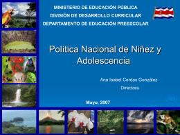 Presentación Política Nacional de Niñez y Adolescencia
