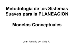 Metodología de los Sistemas Suaves Modelos Conceptuales Juan