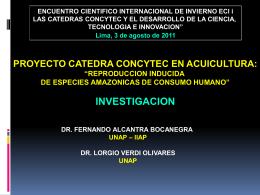 Cátedra CONCYTEC de Acuicultura Tropical