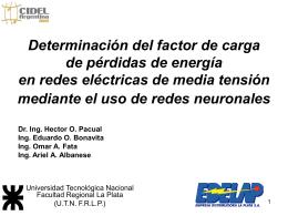 Determinación del factor de carga de pérdidas de energía en redes