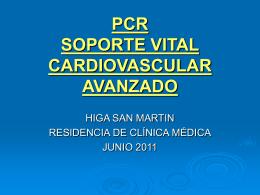PCR SOPORTE VITAL CARDIOVASCULAR AVANZADO