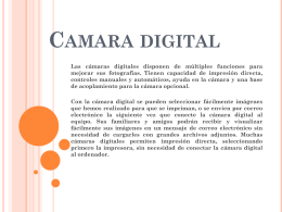 Camara digital-rol estudiante